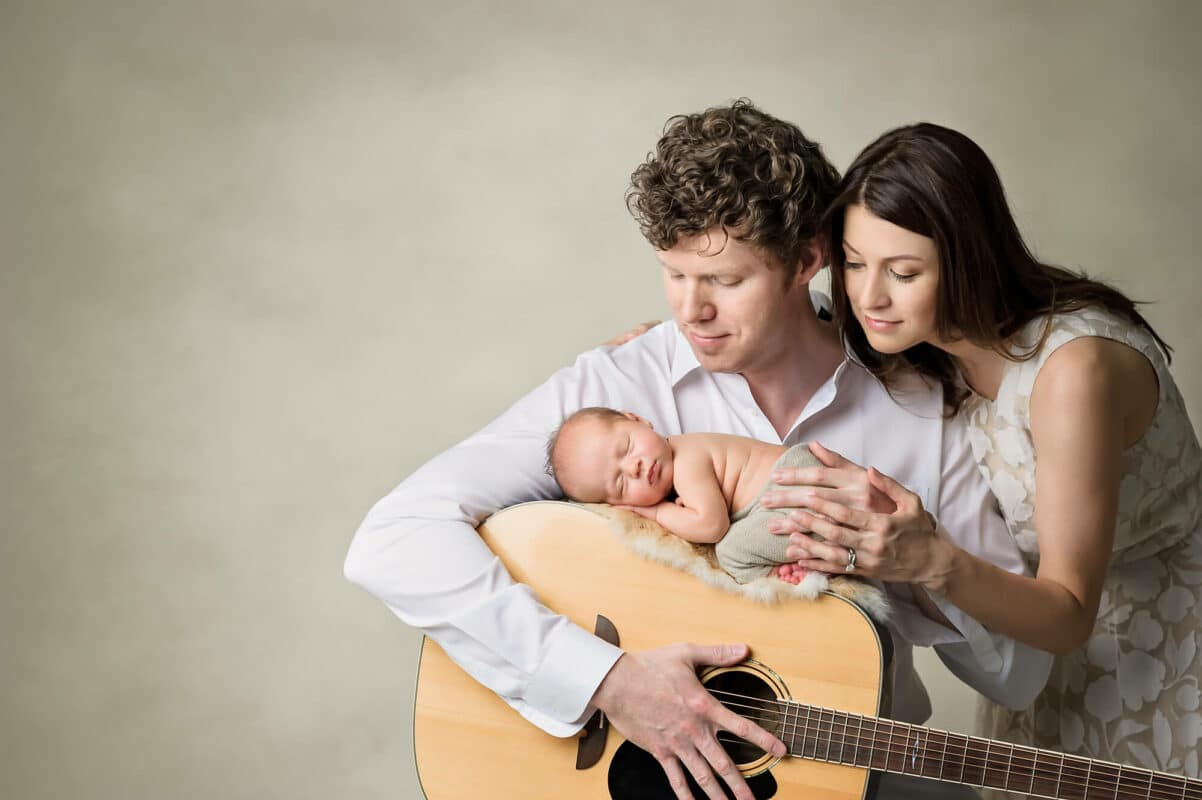 Newborn Family Guitar Eden Bao