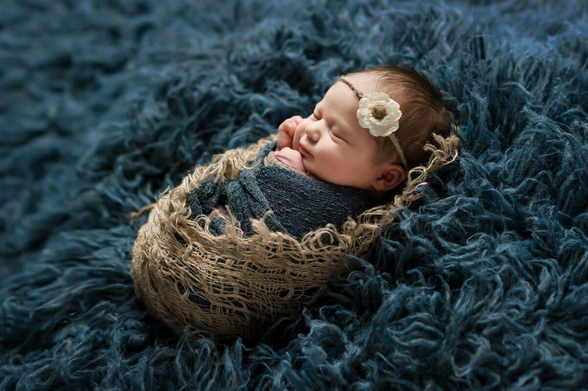 Newborn Navy Rug Eden Bao