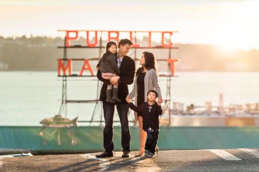 Pikes Market Family Portraits Eden Bao