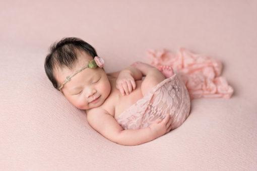 Pink Backdrop Newborn Eden Bao