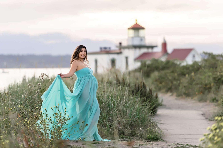 Raquel Maternity Gown Tiffany Blue