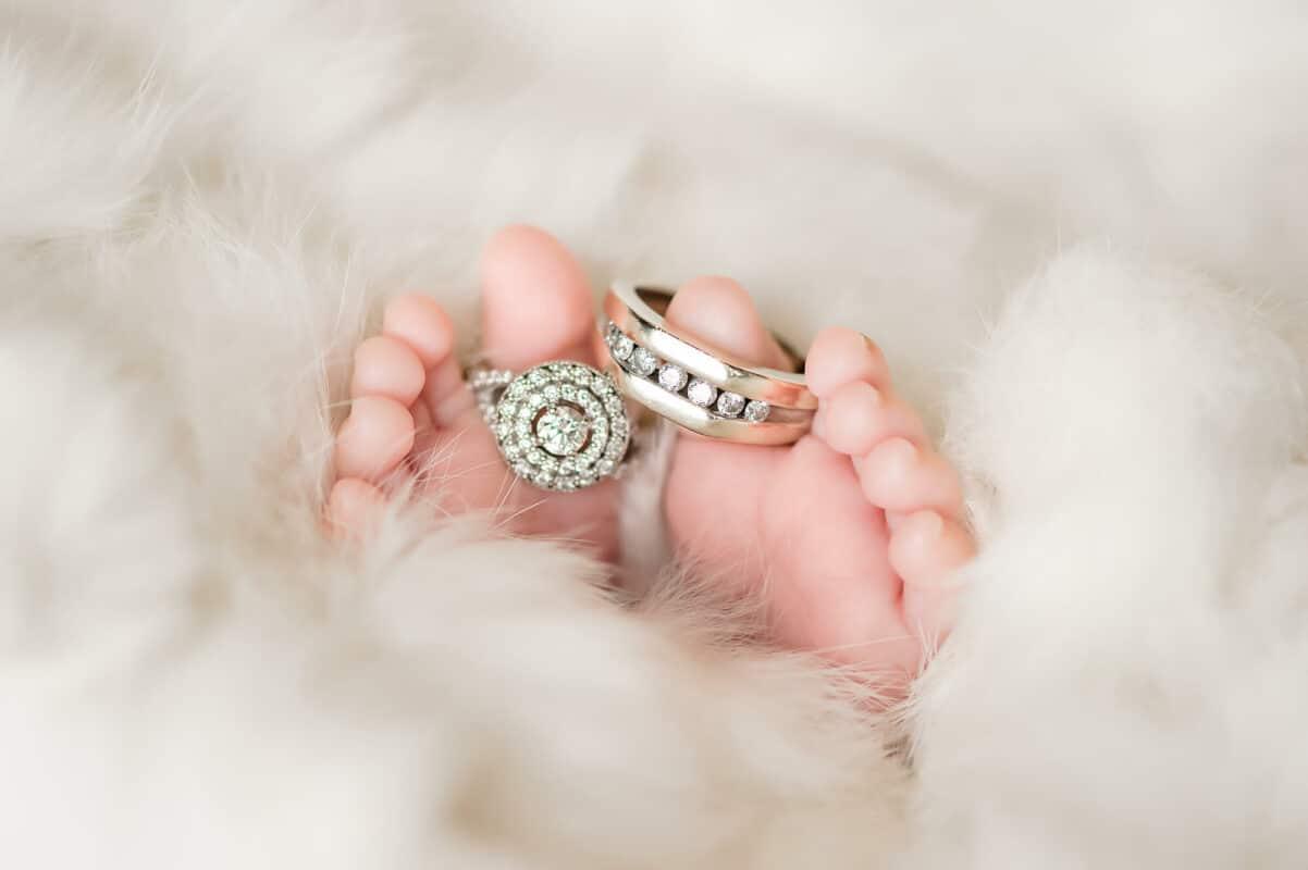 Rings on Newborn Toes Eden Bao