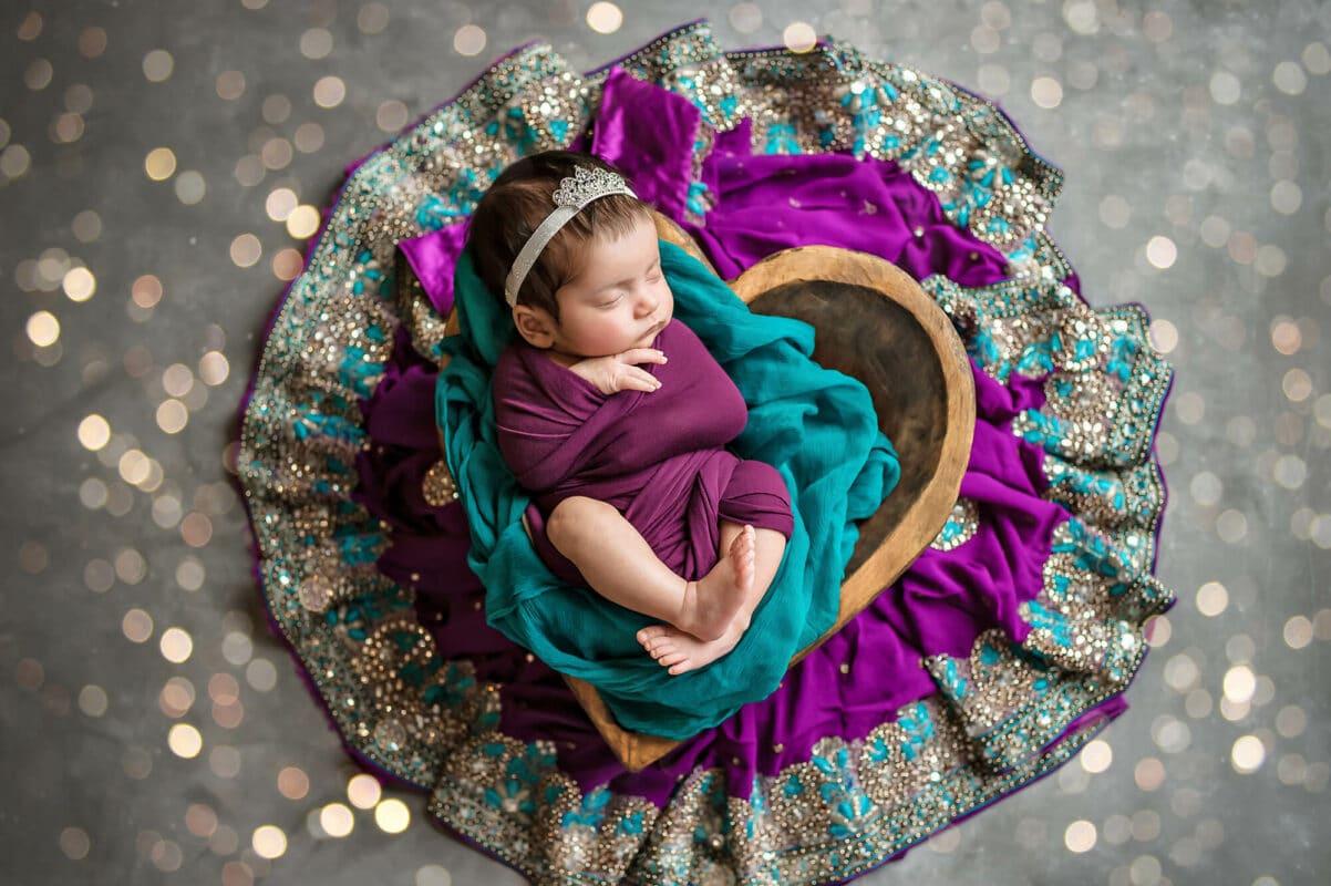 Colorful Sari Newborn Eden Bao