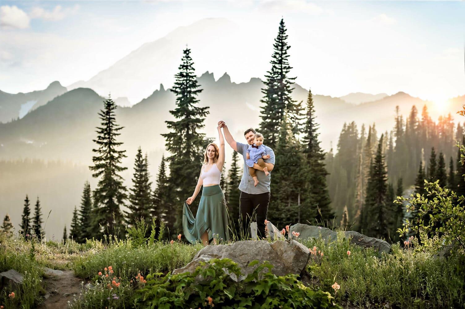 Seattle Adventure Family Photographer Mt Rainier
