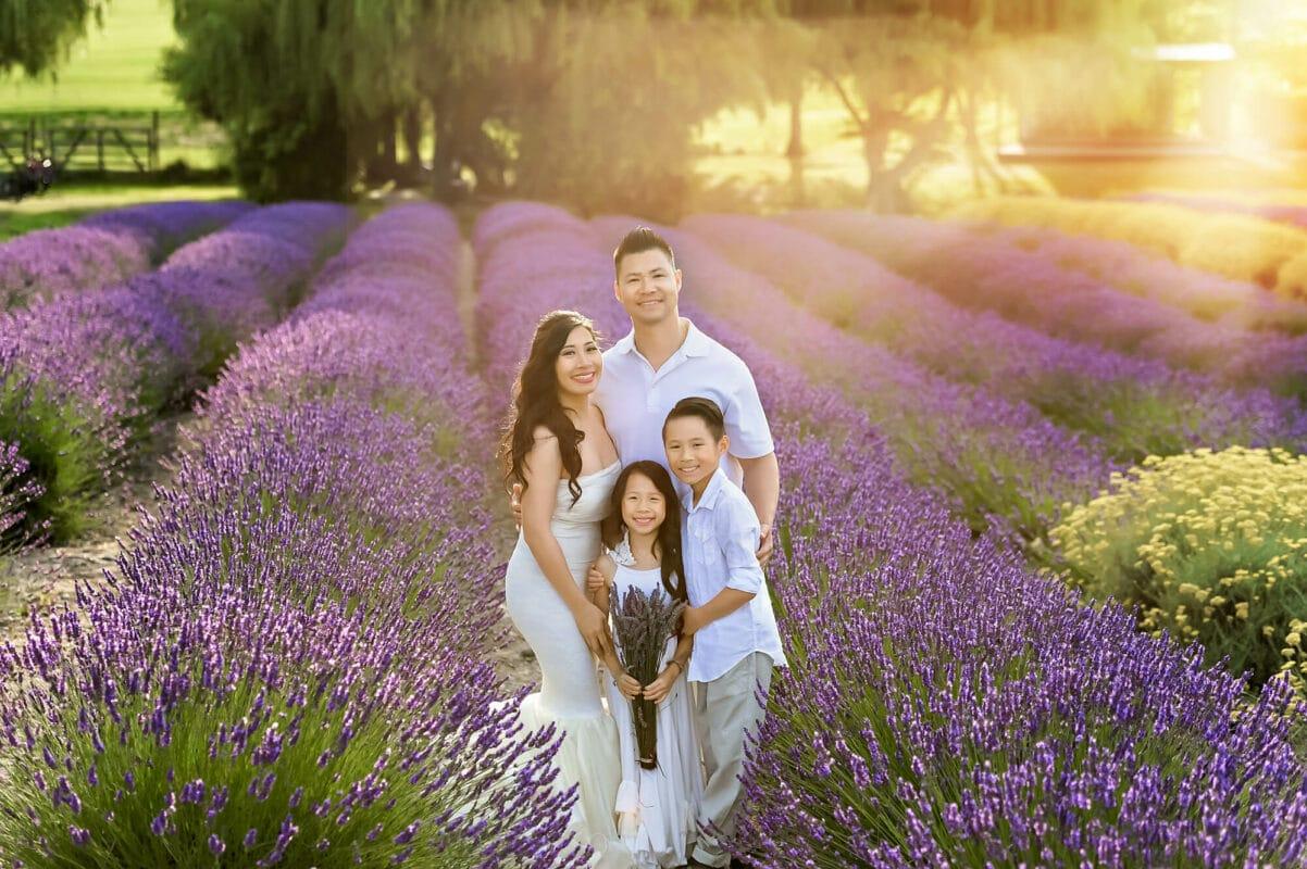 Sequim Lavender Field Family Portrait Eden Bao
