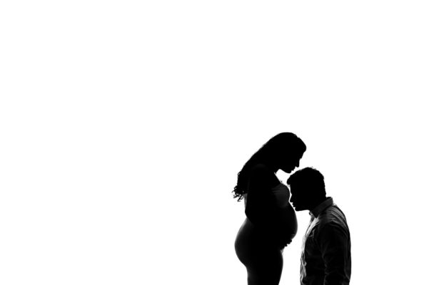 Silhouette Maternity Portraits Eden Bao