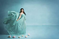 Sky Blue Maternity Portraits Eden Bao