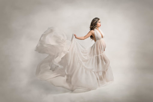 Studio Maternity Ivory Dress Toss Eden Bao