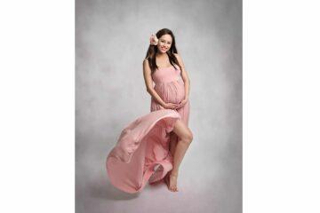 Studio Maternity Pink Gown Eden Bao