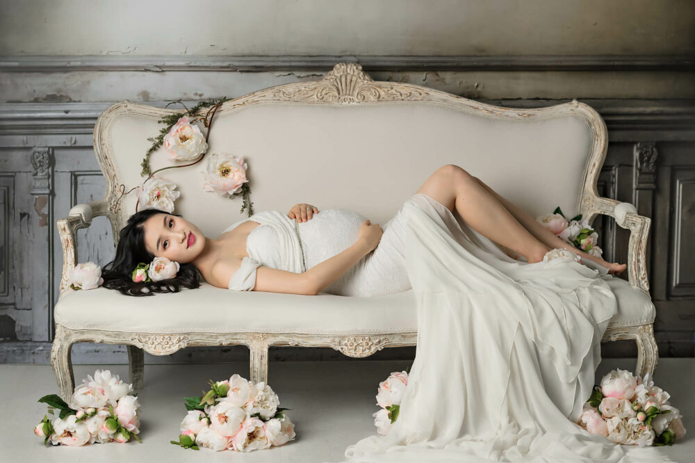 Studio Maternity Samantha Lace Gown Eden Bao