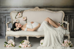 Studio Maternity Samantha Lace Gown Eden Bao