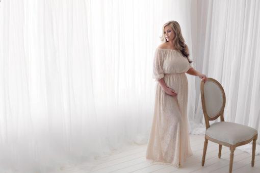 Vintage Lace Long Dress