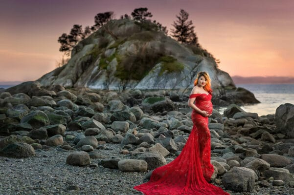 Whytecliff Red Maternity Eden Bao