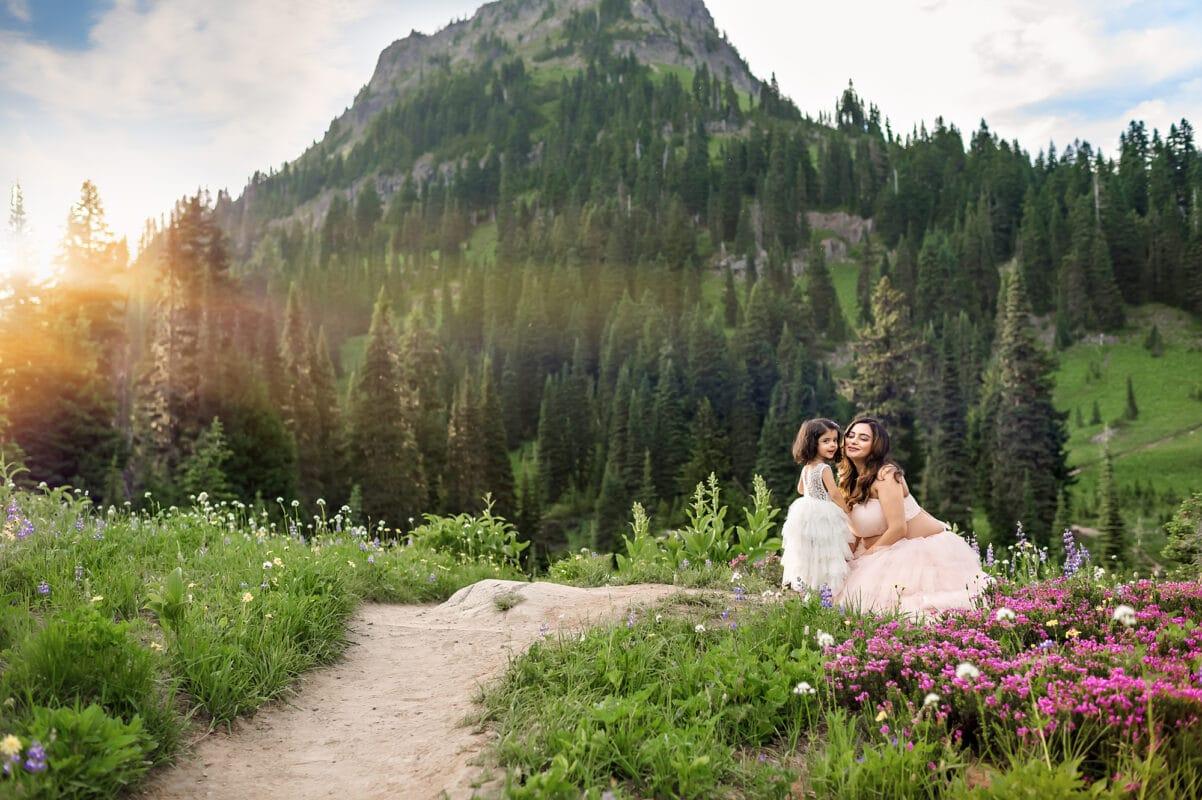 Mt Rainier National Park Maternity Photographer