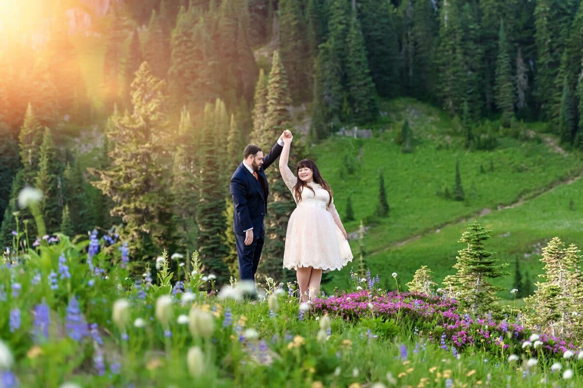 Mt Rainier Engagement Photographer