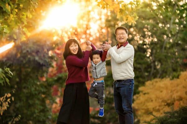 Bellevue Garden Fall Family Photographer