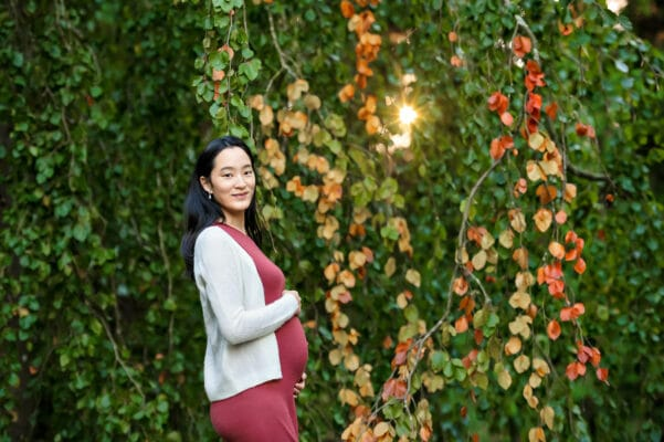Kubota Japanese Garden Fall Colors Maternity Photographer