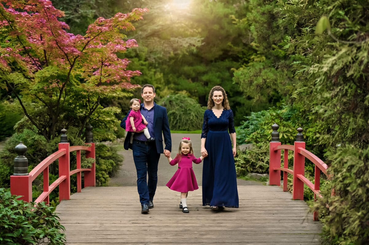Kubota Japanese Garden Seattle Family Photo