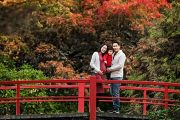 Kubota Japanese Garden Seattle Maternity Family Photographer