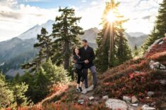 Mt Baker Autumn Couple Engage Photography