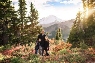 Mt Baker Mountain Adventure Autumn Family Photographer