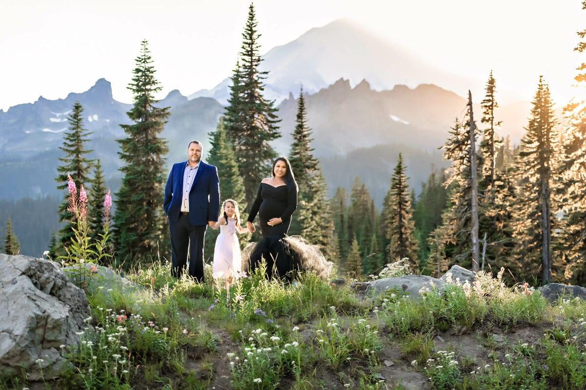 Mt Rainier Mountain PNW WA Maternity Photography