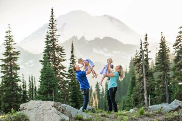 Mt Rainier PNW Mountain Family Photographer