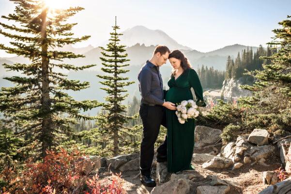 Mt Rainier PNW Mountain Maternity Photographer