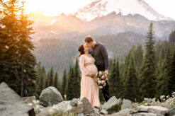 Mt Rainier PNW WA Mountain Maternity Photographer