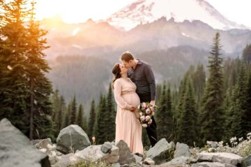Mt Rainier PNW WA Mountain Maternity Photographer
