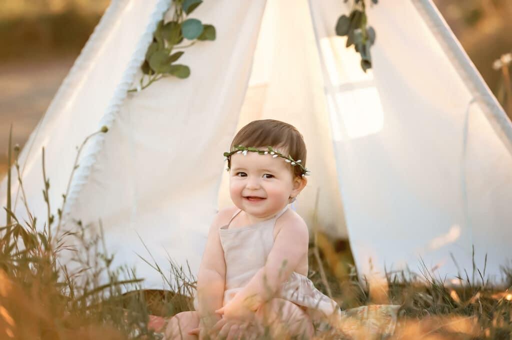 Baby photographer Seattle boho vibes