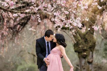 Seattle Cherry Blossom Maternity
