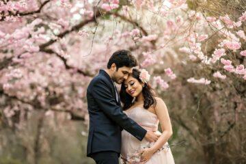 Seattle Cherry Blossom Maternity Photographer