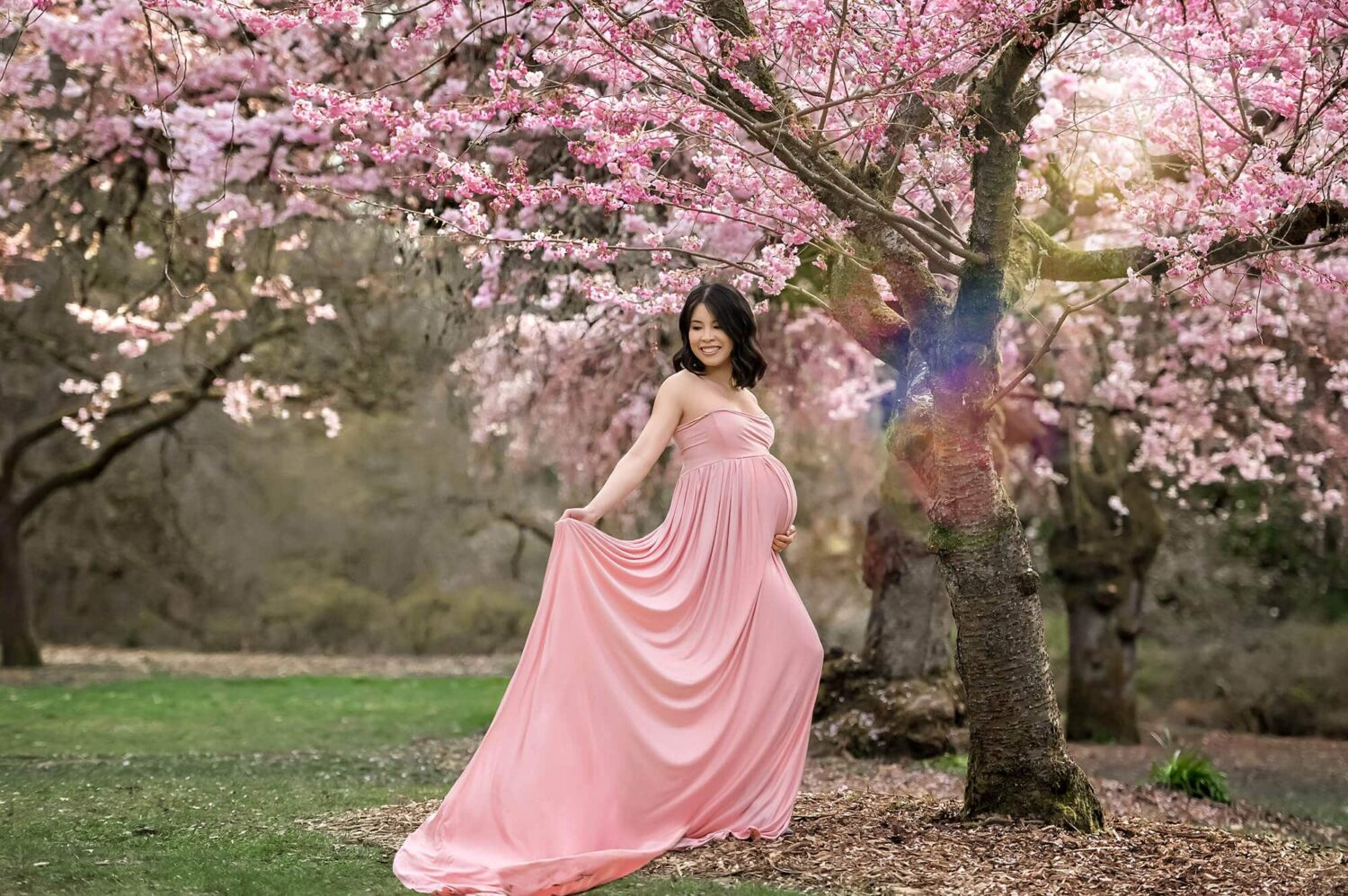 Studio Gown Pink Maternity Gown