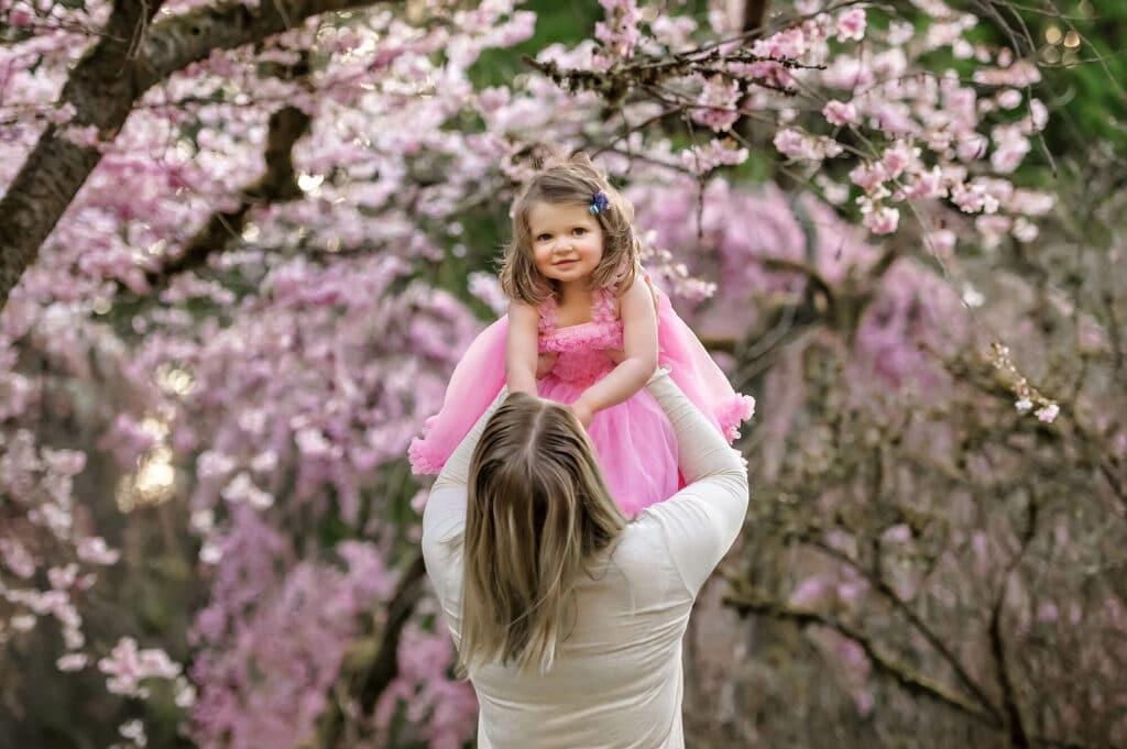 Washington Arboretum Park Cherry Blossom Seattle Baby Photographer